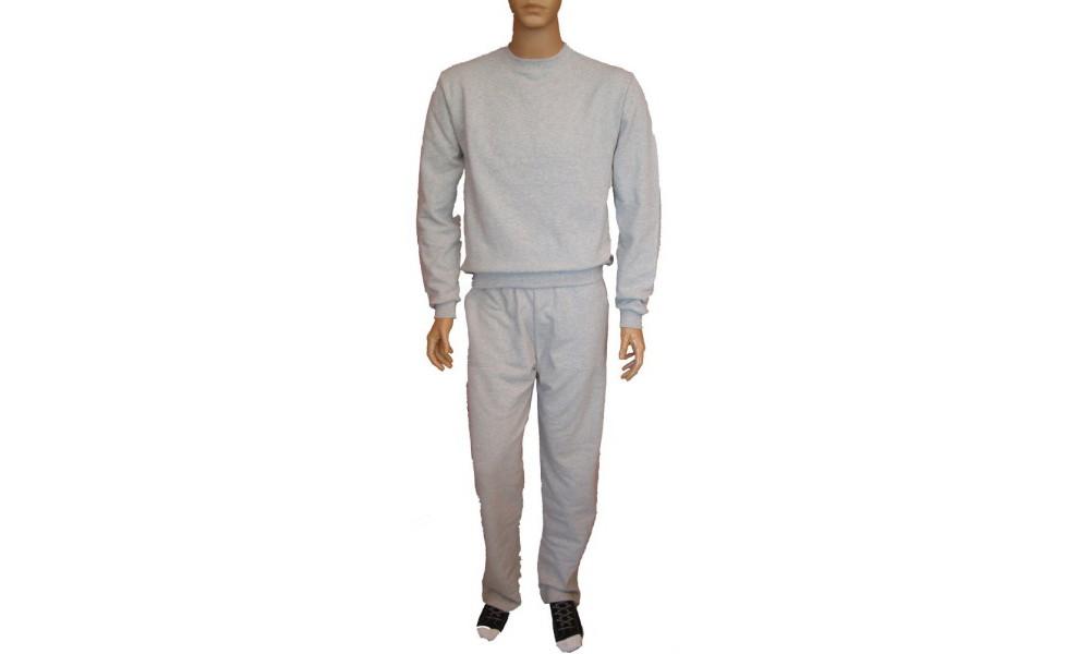 3805 - Φόρμα φούτερ κλασική μονόχρωμη